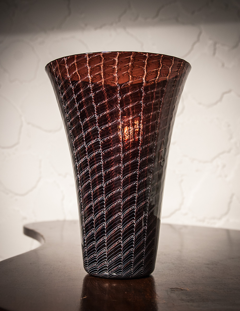 Archimede Seguso merletto vase, c. 1950, Seguso Vetri d'Arte