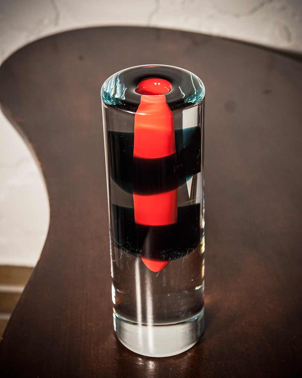 Beranek glass vase by Vladimir Dostal