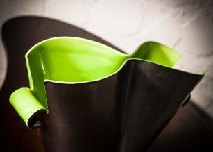 Elchinger France ceramic vase, detail 1
