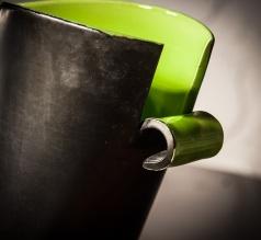 Elchinger France ceramic vase, detail 2